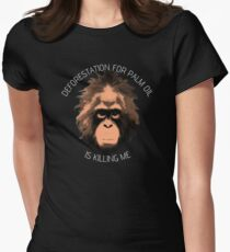 POI - Deforestation for palm oil is killing me Women's Fitted T-Shirt