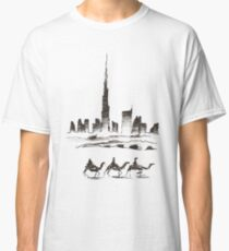Dubai Desert and Skyscrapers Classic T-Shirt