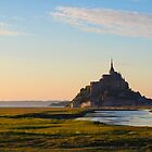 Sunrise at Mont St Michel by Marylou Badeaux