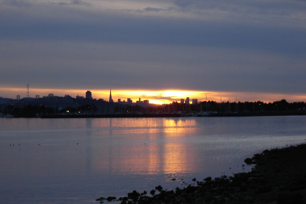 San Francisco at Sundown by clou
