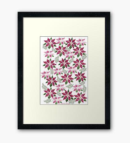 poinsettia Pattern Framed Print