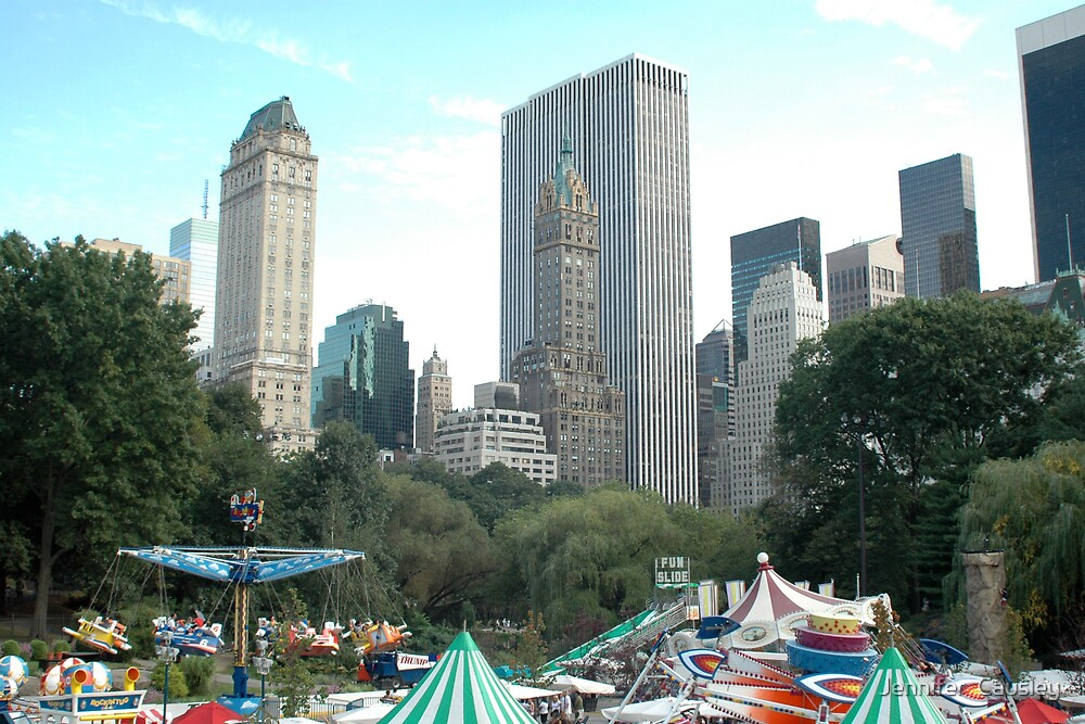 New York Skyline Circus by Jennifer  Causley