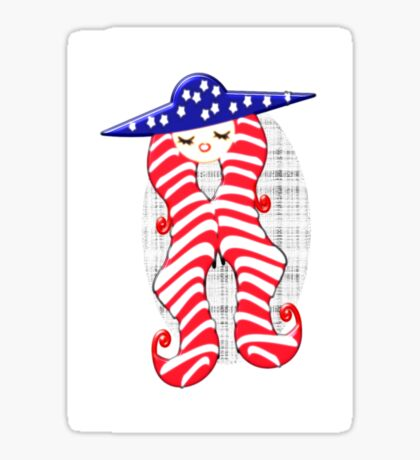 Doll from America (2960 Views) Sticker