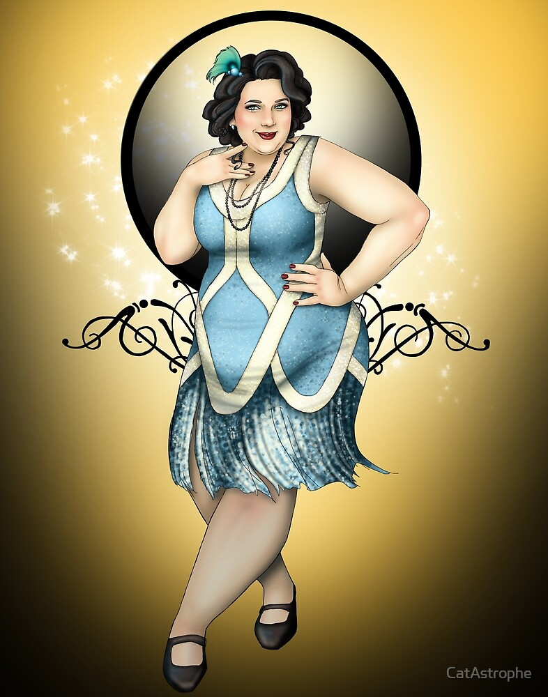 Olivia - The Fat 1920s Flapper by CatAstrophe