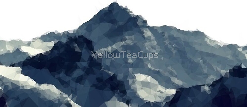 Polygonal Mountains Design by YellowTeaCups