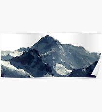 Polygonal Mountains Design Poster