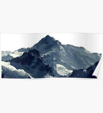 Polygonal Mountains Design Poster