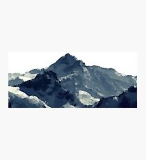 Polygonal Mountains Design Photographic Print