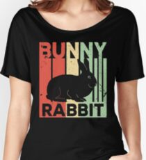 Bunny Rabbit Vintage Retro Women's Relaxed Fit T-Shirt