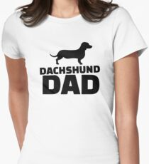 Dachshund Dad Women's Fitted T-Shirt