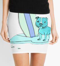 Blue Surfing Mini Skirt