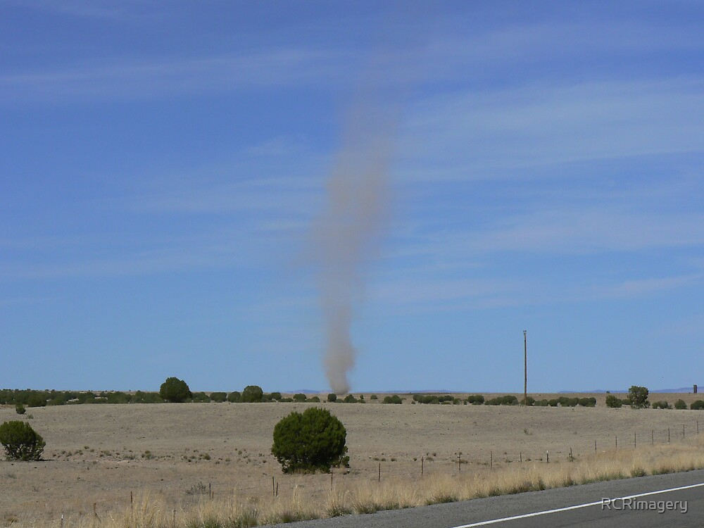 Dust Devil, Mohave Desert, Arizona by RCRimagery