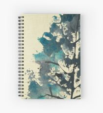 Leaf Print - 03D Spiral Notebook