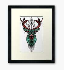 Geometric Deer Framed Print