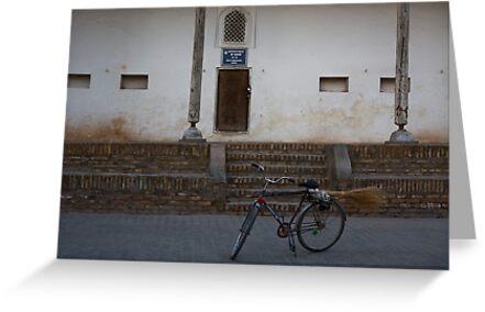 Streetsweeper's bike by Gillian Anderson LAPS, AFIAP