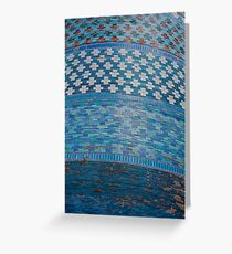 Tiles of the Khiva Unfinished Minaret Greeting Card