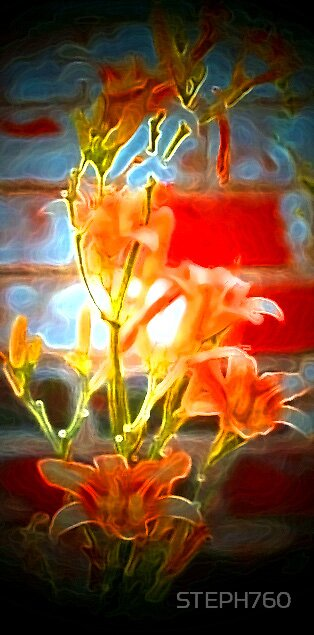 Neon Lillies by STEPH760