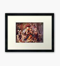 Thief Run Fantasy Framed Print