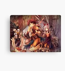 Thief Run Fantasy Canvas Print