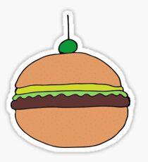 cute hamburger drawing Sticker