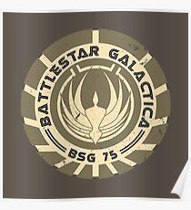Battlestar Galactica - BSG 75 logo Poster