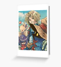 Vivi and Zidane Greeting Card