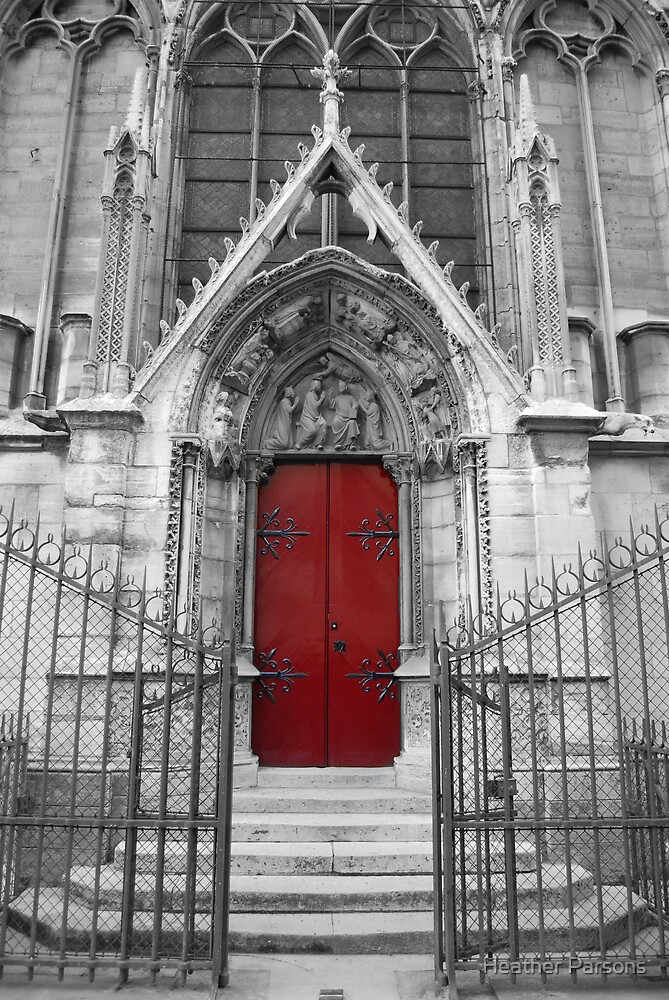 Notre Dame's Red Door by Heather Parsons
