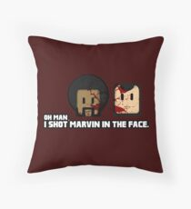 Toon Quote : Pulp Fiction - I Shot Marvin in the Face Throw Pillow
