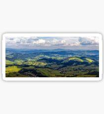high mountain panorama view Sticker