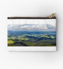 high mountain panorama view Studio Pouch
