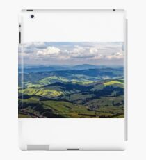 high mountain panorama view iPad Case/Skin