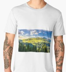 coniferous forest on the hill Men's Premium T-Shirt