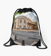 life on streets of Istanbul Drawstring Bag