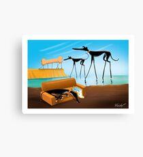 Greylvador Dali Canvas Print