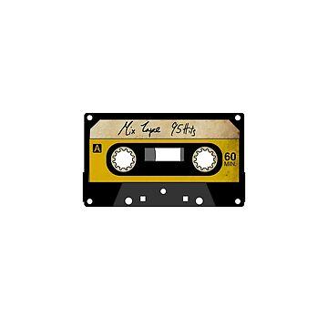 Vintage Cassette - Mix Tape 95 Hits by i2studio