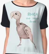 Rhea the Naked Birdie Chiffon Top