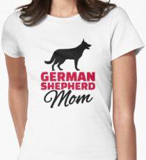 German shepherd Mom Womens Fitted T-Shirt