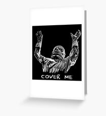 Depeche Mode : Dave Gahan : Cover Me Txt Greeting Card