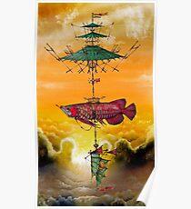 Flying Arowana Poster