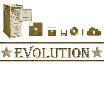 Evolution of Data Storage from Big to Nothing by i2studio