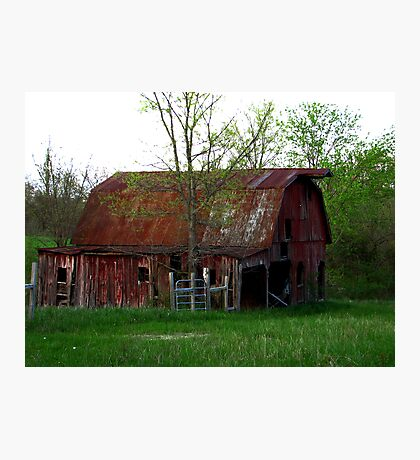 Big Red Barn on the Broad Side! Photographic Print