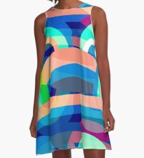 Marine abstraction A-Line Dress