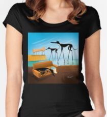 Greylvador Dali Women's Fitted Scoop T-Shirt