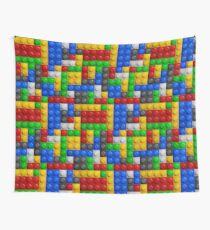 Color constructor blocks seamless background lego Wall Tapestry