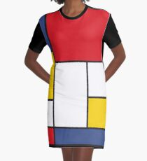 In the Style of Mondrian Graphic T-Shirt Dress