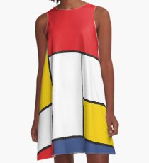 In the Style of Mondrian A-Line Dress