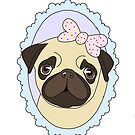 Adorable Pastel Pug by TheDigitalDead