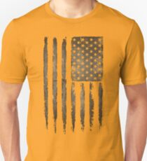 Patriotic American flag Gray Grunge T-Shirt