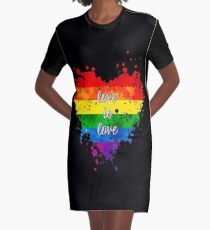 Love is love Graphic T-Shirt Dress