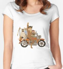 Fantastic Mr Motorcycle  Fitted Scoop T-Shirt